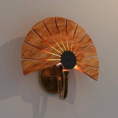 2000套高精3D单体模型, 东南亚, 壁灯, 灯饰