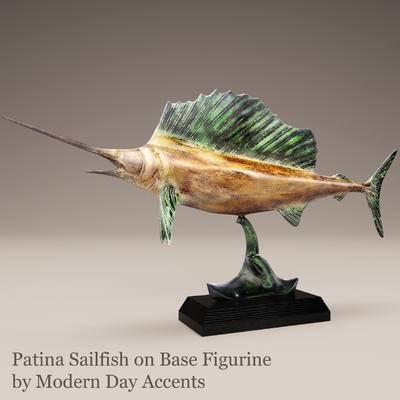 东南亚, 鱼雕塑, 摆件
