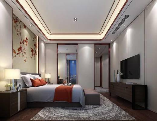 下得乐2019季千套模型, 中式, 酒店客房, 双人房