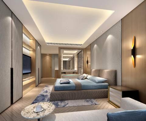 下得樂2019季千套模型, 中式, 套房, 雙人床