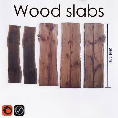 2000套高精3D单体模型, 木板, 木材