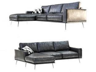 丹麦BoConcept现代皮艺转角沙发