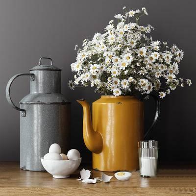 北欧, 花瓶, 植物, 绿植