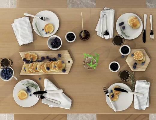 下得乐2019季千套模型, 北欧, 餐具, 摆件, 食物