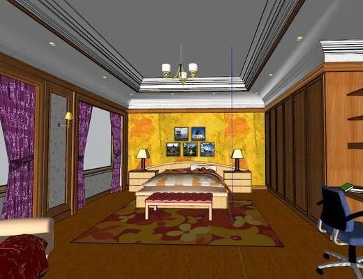 后现代, 卧室