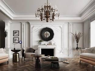 后现代低奢客厅3D模型