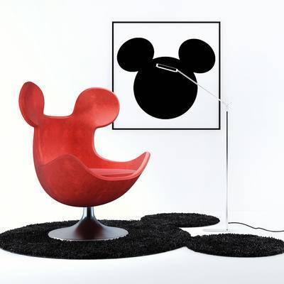 2000套高精3D单体模型, 后现代, 单人沙发, 沙发