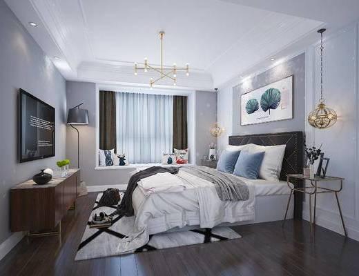 下得乐2019季千套模型, 后现代, 卧室