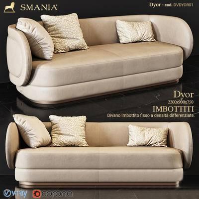 2000套高精3D单体模型, 后现代, 双人沙发, 沙发