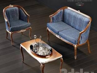 后现代古典沙发茶几