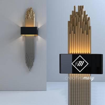 2000套高精3D单体模型, 后现代, 壁灯, 灯饰