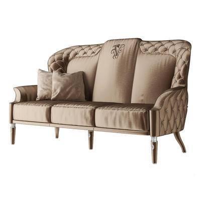 2000套高精3D单体模型, 后现代, 多人沙发, 沙发