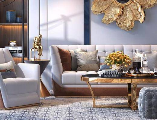 下得乐2019季千套模型, 后现代, 沙发组合