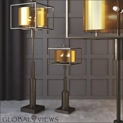 2000套高精3D单体模型, 下得乐品牌模型库, 后现代, 落地灯, 灯饰