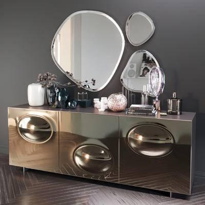 2000套高精3D单体模型, 后现代, 边柜, 摆件, 挂壁镜
