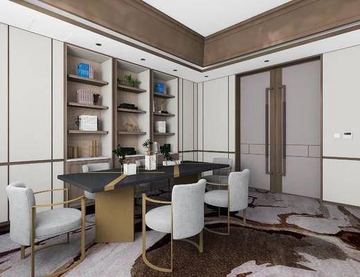 下得乐2019季千套模型, 后现代, 餐厅, 桌椅组合