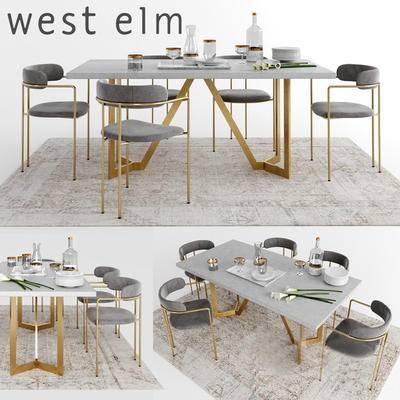 2000套国外模型, 后现代, 餐桌, 桌椅组合, 餐椅, 单椅