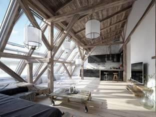 复古客厅3D模型