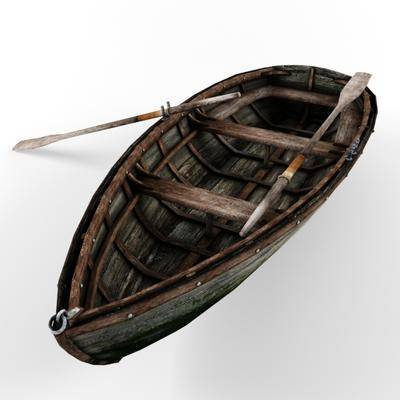 2000套国外模型, 下得乐品牌模型库, 复古, 小船, 摆件