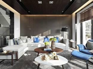 尚诺柏纳空间设计保利叁仟栋C户型别墅会客区