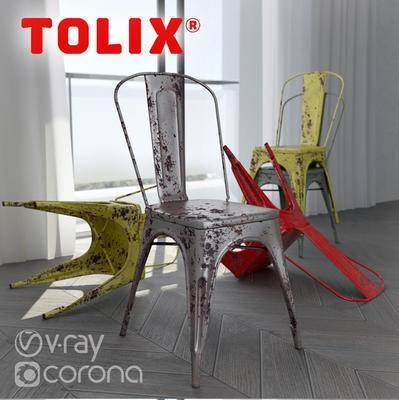 下得乐品牌模型库, 工业风, 单椅, 椅子