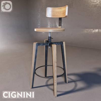 2000套高精3D单体模型, 工业风, 吧椅