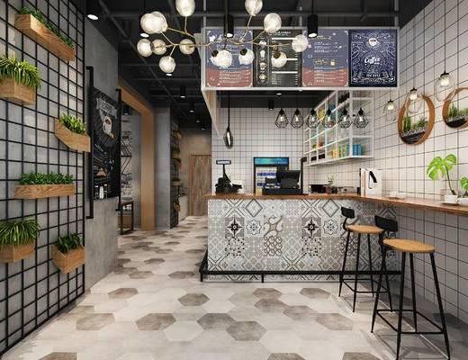 下得乐2019季千套模型, 工业风, 咖啡厅