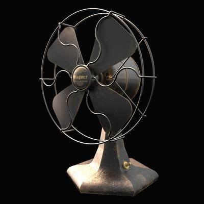 2000套国外模型, 工业风, 复古电风扇, 电器
