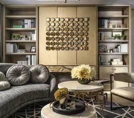布鲁盟后现代客厅沙发组合3D模型
