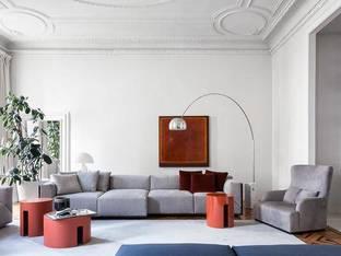 意大利Meridiani现代沙发组合落地灯3D模型