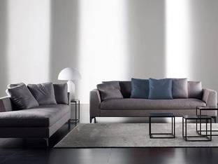意大利Meridiani现代灰色沙发茶几组合3D模型