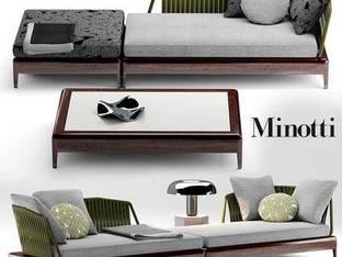 意大利Minotti现代休闲沙发