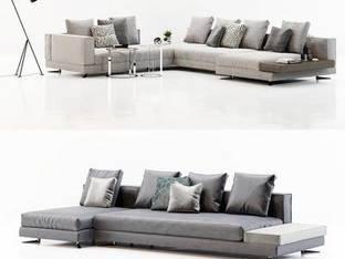 意大利Minotti现代多人休闲沙发