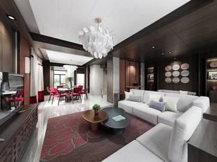 戴勇室内设计郑州康桥悦蓉园新中式院墅客厅2_3d模型