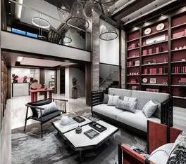 戴勇室内设计郑州康桥悦蓉园新中式院墅客厅_3d模型