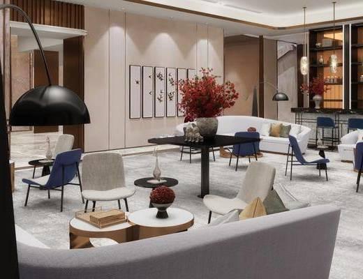 下得乐2019季千套模型, 新中式, 休息区