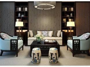 新中式客厅沙发休闲椅子组合