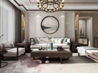 新中式客厅035