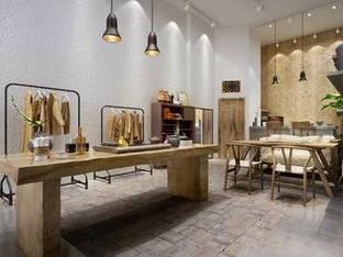 新中式服装店3D模型
