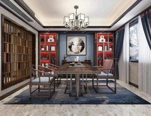 新中式, 茶室, 茶桌