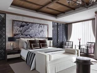 新中式酒店客房3D模型2_3d模型