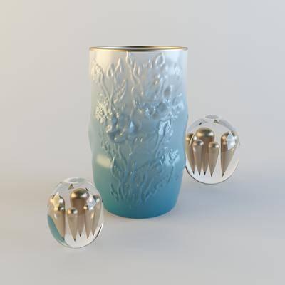 2000套高精3D单体模型, 新中式, 陶瓷器皿, 摆件