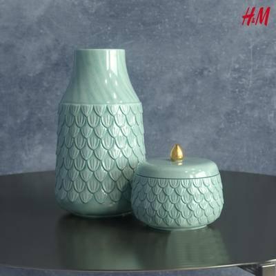 新中式, 陶瓷器皿, 摆件