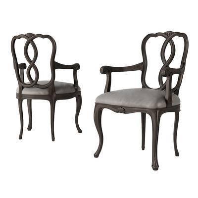 2000套国外模型, 新古典, 椅子, 单椅