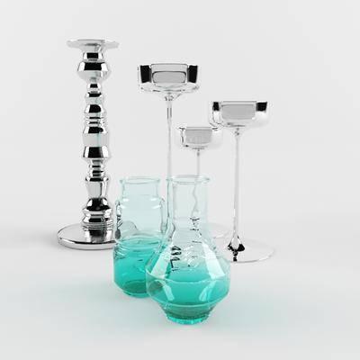 2000套高精3D单体模型, 新古典, 台灯, 器皿
