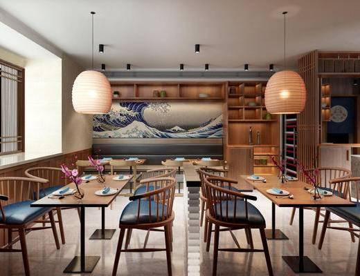 下得乐2019季千套模型, 日式, 餐厅, 桌椅组合