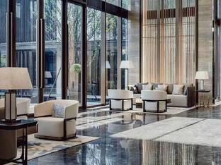 极简宋韵现代新中式酒店洽谈区