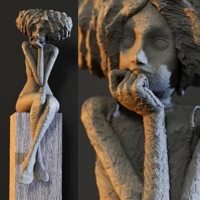欧式, 雕塑, 摆件, 人物雕塑