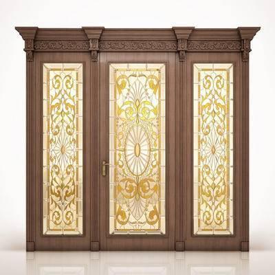 2000套高精3D单体模型, 欧式, 单开门, 门