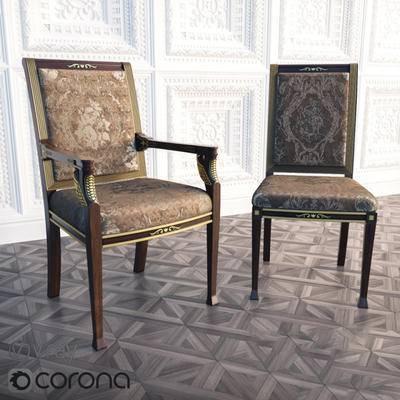 2000套国外模型, 欧式, 古典椅子, 单椅